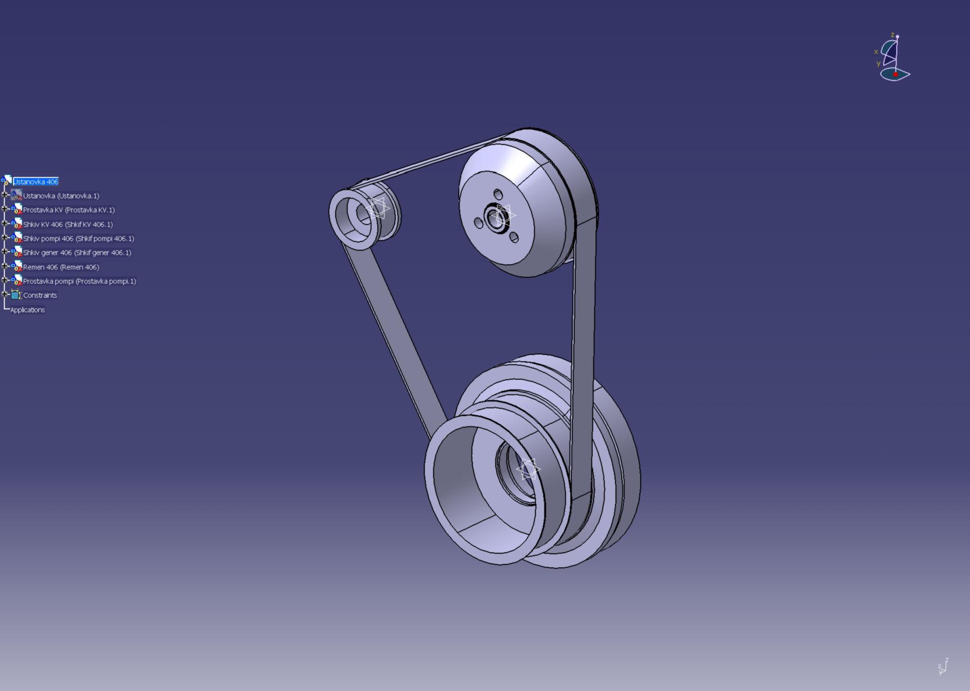 натяжение ремня генератора на умз 4216 схема