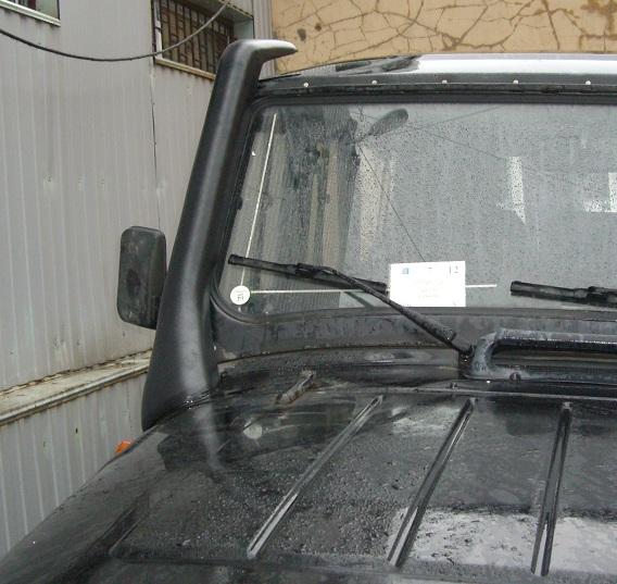 Итог работы с установленным шноркелем на УАЗ Хантер